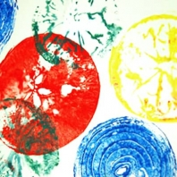 Fruit and Vegi Stamp Art