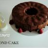 Κέικ αμυγδάλου με ξύσμα πορτοκαλιού και κομμάτια σοκολάτας