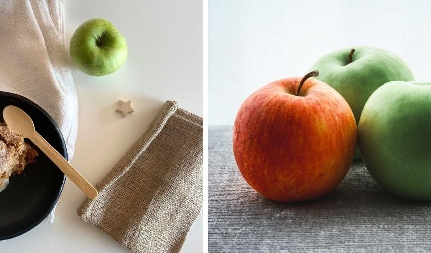 Crumble κέικ με αχλάδια και μήλα