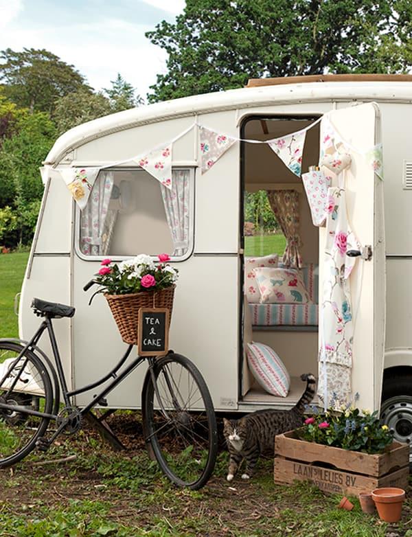 Clarke and clarke vintage caravan decor