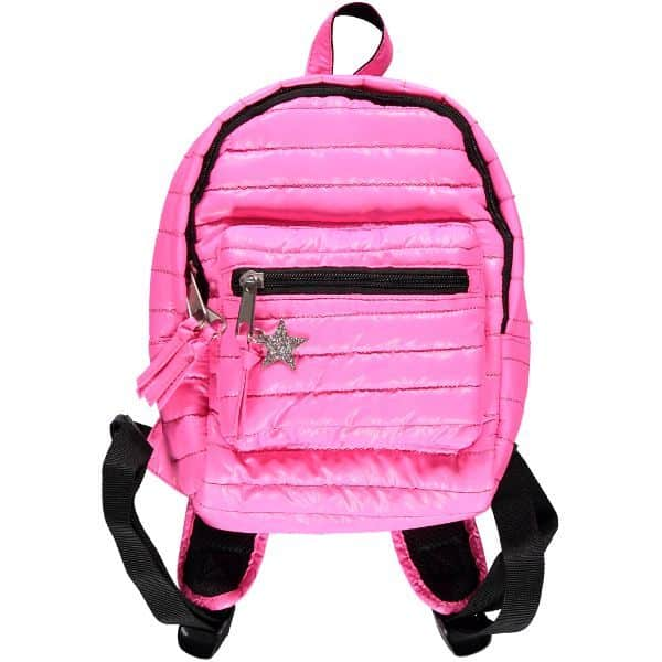 bright pink back pack