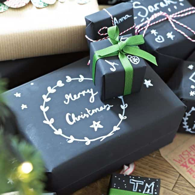 chalkboard wrapping paper 3