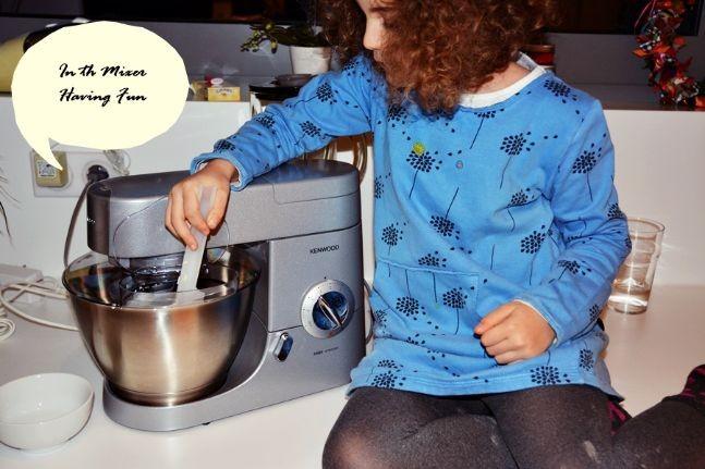 in the mixer - brownies