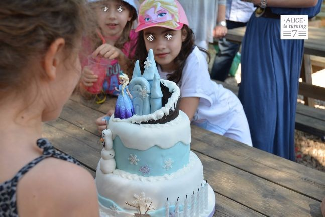 frozen the cake