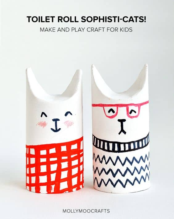 DYI Toilet Rolls Crafts