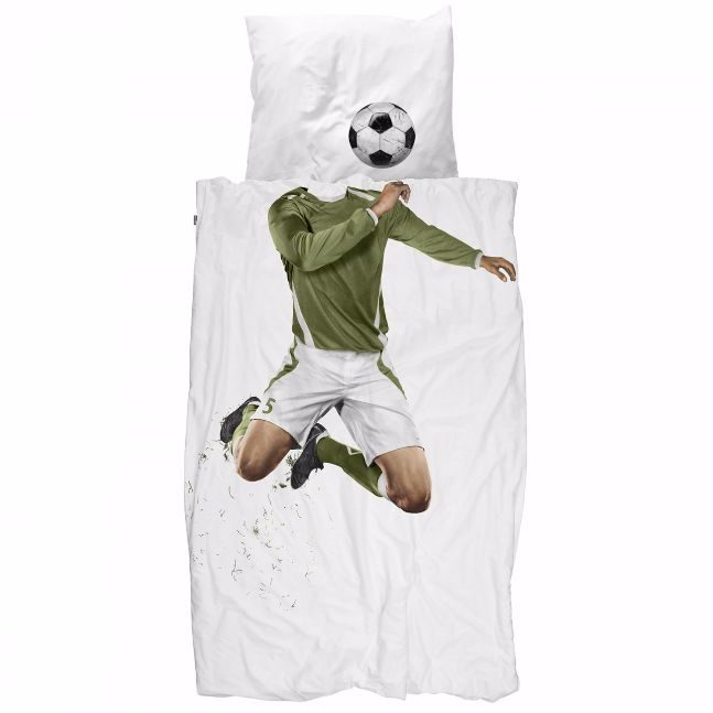snurk duvet soccer champ red