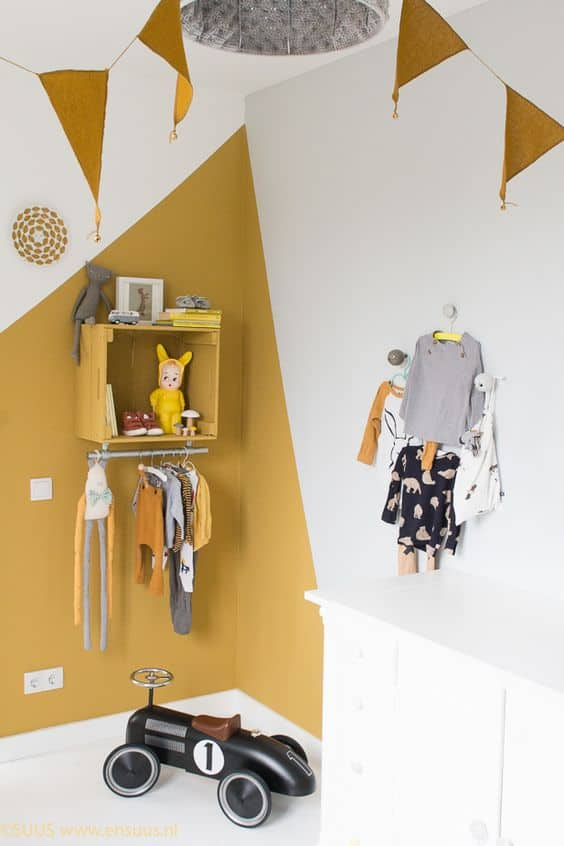 yellow color in kids room