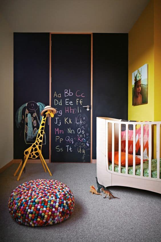 yellow walls in kids room