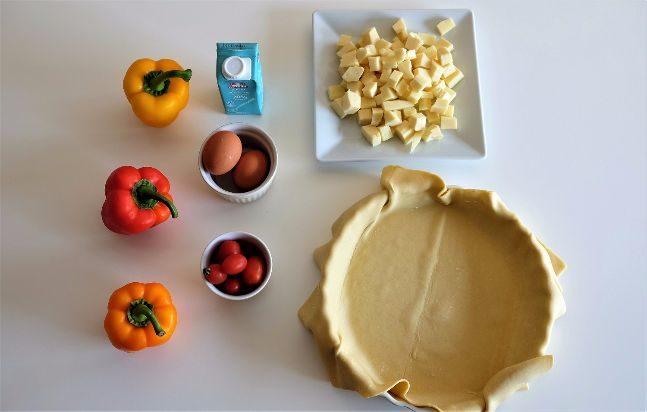 τάρτα με πιπεριές και τυριά