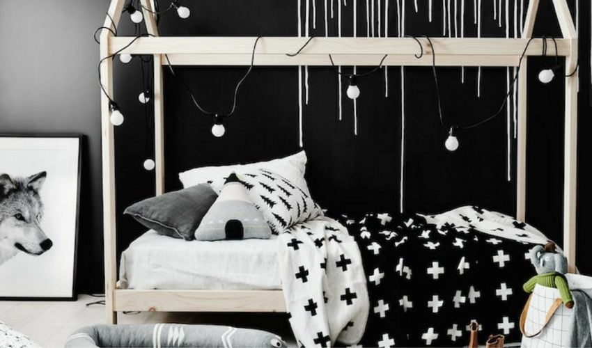 Μαύρο  χρώμα στο παιδικό δωμάτιο – Τολμάς;