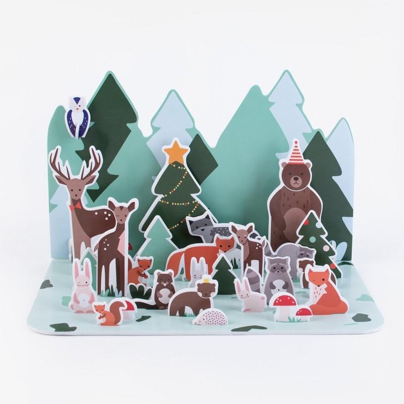 Η Μαγεία των Χριστουγέννων advent-calendar-forest-animals