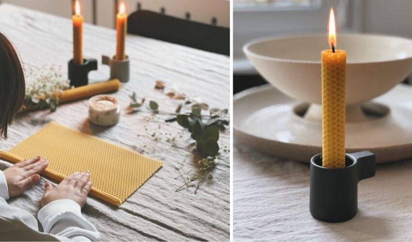 Κιτ χειροποίητης λαμπάδας από βιολογικο κερί
